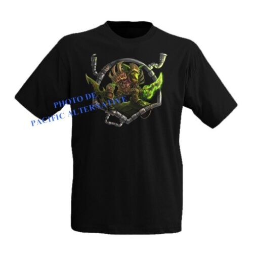T shirt GOBLIN taille XL noir pour homme world of warcraft wow man new black NEW