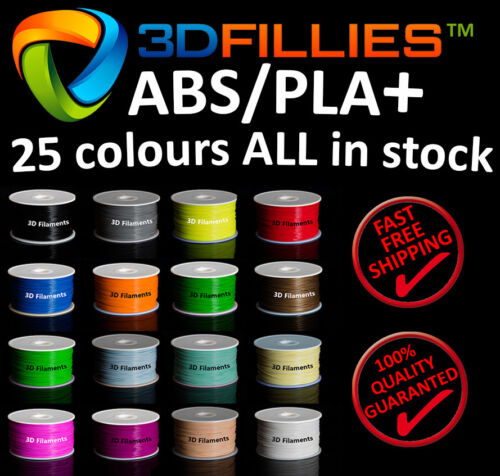 3D Printer Filament ABS PLA 1.75mm 1kg/roll 25 colours Aussie Stock Fast Ship
