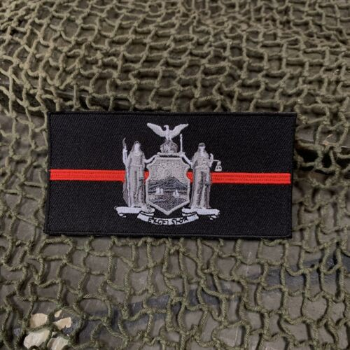 Thin Red Line NEW YORK State Flag Patch, FirefightersOther Militaria - 135