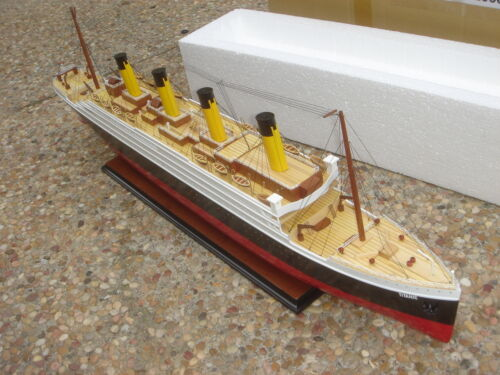 """Titanic high quality wooden model cruise ship 40"""" fully assembly"""