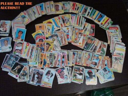 BASEBALL CARDS FROM THE 1950s-1980s! REALLY OLD VINTAGE CARDS FROM THE BEST ERA!