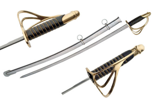 Deluxe M1860 Civil War Army Light Cavalry Saber Sword with ScabbardReproductions - 156470