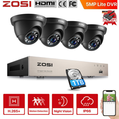 ZOSI 1080P CCTV Security Camera HDMI 8CH DVR Video Home Outdoor IP System Metal