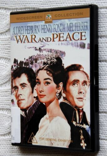 War and Peace ( DVD) Audrey Hepburn - R-4- LIKE NEW FREE POST AUS-WIDE