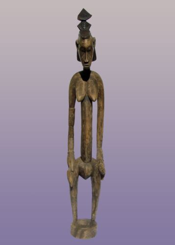"African Senufo Rhythm Pounder From The Ivory Coast 57"" Tall"