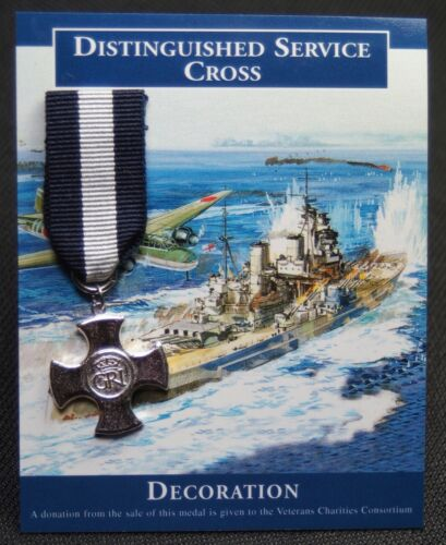 DISTINGUISHED SERVICE CROSS - Contemporary Miniature Medal -Crowned Royal CypherGreat Britain - 156410