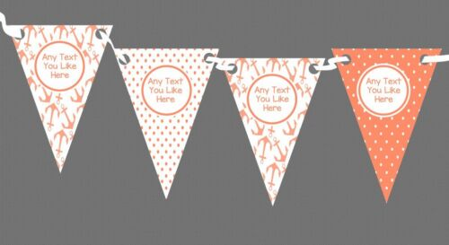 Party Banner Bunting Black And Copper Gold Crosshatch Personalised Christmas