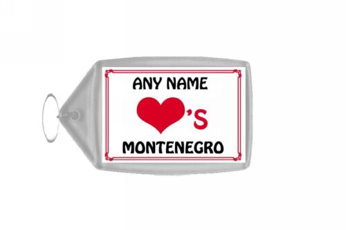 Love Heart Montenegro Personalised Keyring
