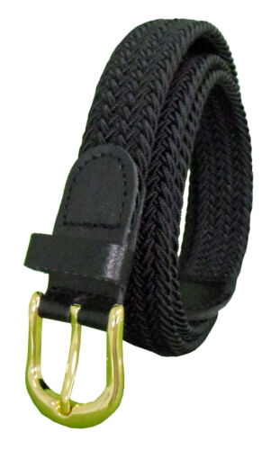"405 - BLACK LADIES NYLON BRAIDED STRETCH BELT 1""WIDE ON SALE & SIZES TO FIT MOST"