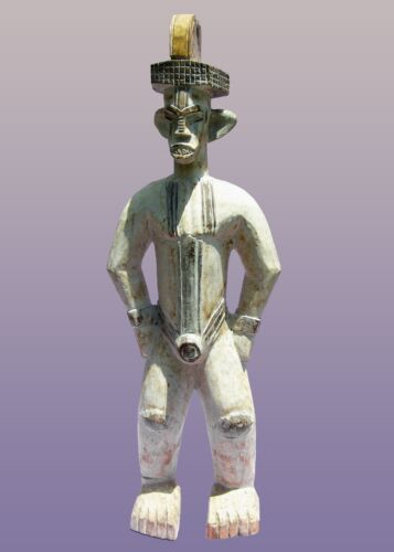 African Igbo  or Urhobo Male Ancestor Figure From Nigeria 43""