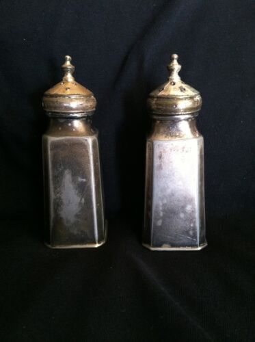Collectible Rare  J B 2368 Silverplated Salt/Pepper Shakers Vintage Nice Patina