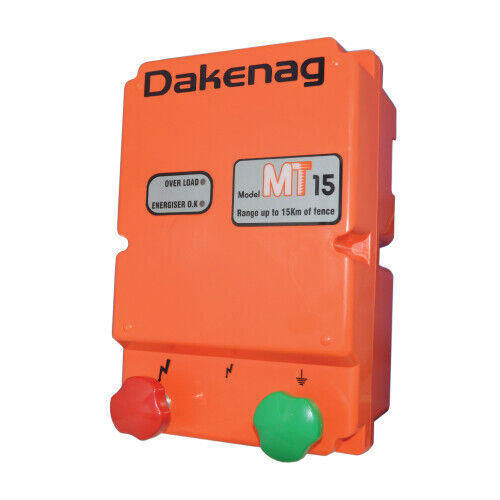 15km MAINS Power Electric Fence Energiser Energizer 1.7J DAKEN 3YR WARRANTY <br/> Designed, Assembled, Tested and Serviced in Australia