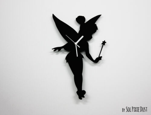 Tinker Bell Silhouette - Wall Clock