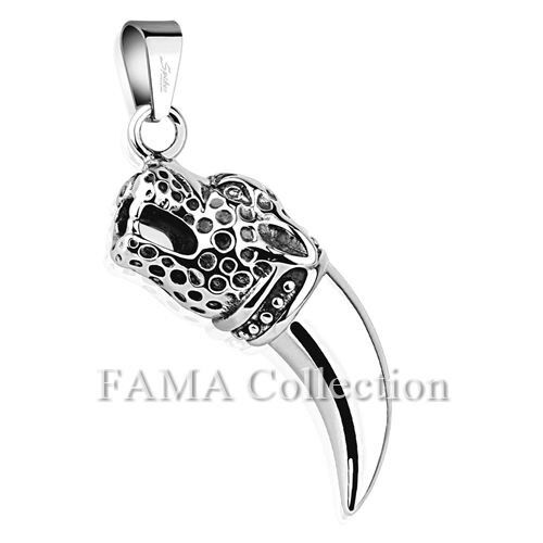 FAMA Leopard Tooth 316L Stainless Steel Pendant