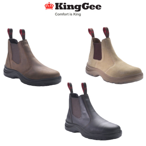 Mens KingGee Flinders Work Boot Boots Shoe Safety Leather 3 Styles Aussie K25500
