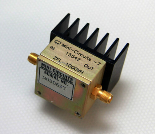 Mini-Circuits RF Coaxial Amplifier ZFL-1000VH 10-1000Mhz 20dB Gain
