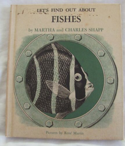 Vintage 1965 Let's Find Out About Fishes, M & C Shapp hc + record