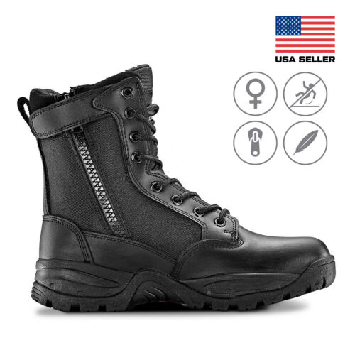 Maelstrom® Tac Force 8'' Women's Military Tactical Work Boots with Zipper