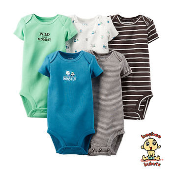 Carter's Bodysuits 5-Pack Short Sleeve Set 6 months Authentic and Brand New