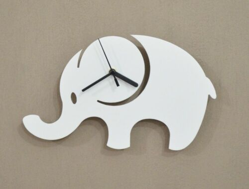 White Elephant Silhouette - Wall Clock