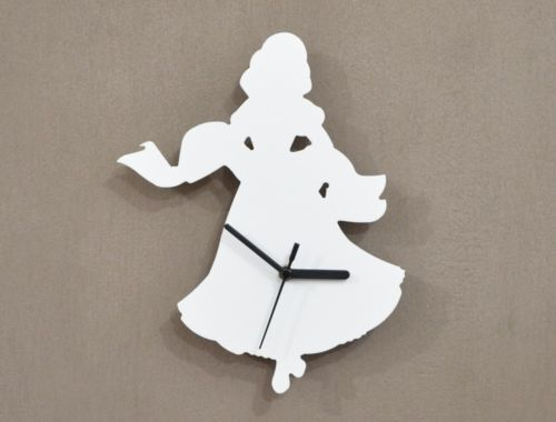 Fairy tales Princesse Silhouette - Wall Clock