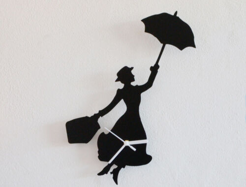 Mary Poppins Silhouette - Wall Clock