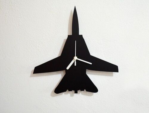 F16 Silhouette - Wall Clock