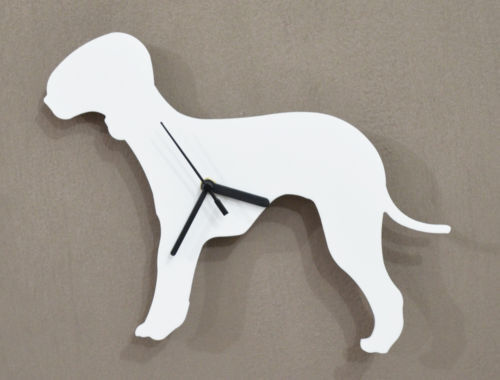 Bedlington Terrier white - Wall Clock
