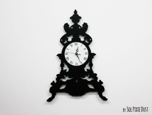 Modern Victorian Table Clock - Silhouette Wall Clock