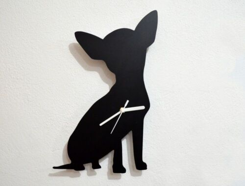 Chihuahua Dog Silhouette - Wall Clock