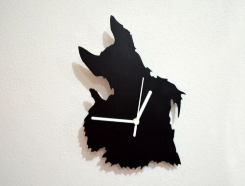 Scottish Terrier Dog Silhouette 01- Wall Clock