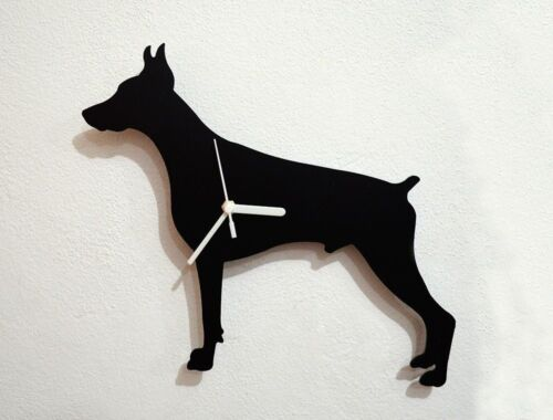 Doberman Dog Silhouette - Wall Clock