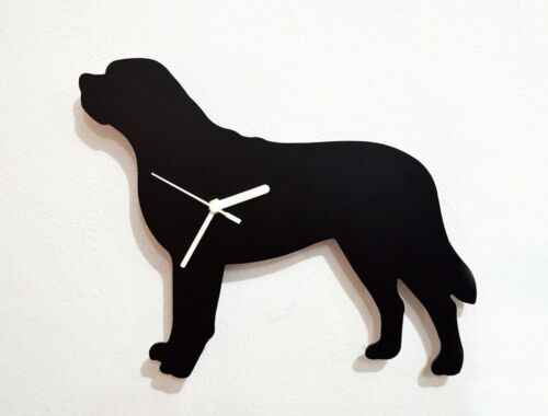 St. Bernard Dog Silhouette - Wall Clock