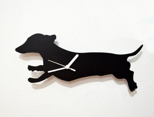 Dachshund Dog Silhouette 01 - Wall Clock
