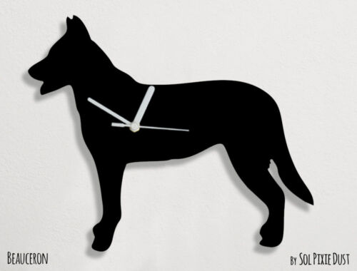 Beauceron Dog Silhouette - Wall Clock