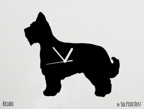 Briard Dog Silhouette - Wall Clock
