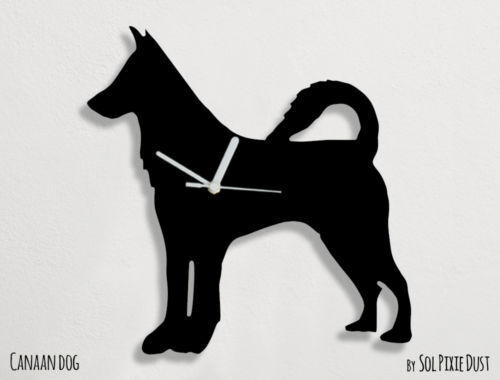 Canaan Dog Silhouette - Wall Clock