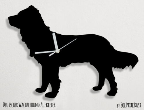 Deutscher Wachtelhund Silhouette - Wall Clock
