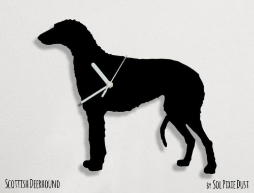 Scottish Deerhound Dog Silhouette - Wall Clock
