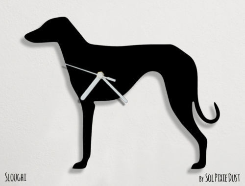 Sloughi Dog Silhouette 1 - Wall Clock
