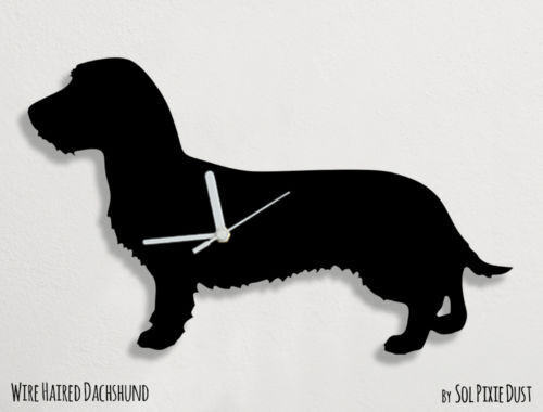 Wirehaired Dachshund Dog Silhouette - Wall Clock