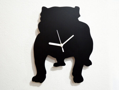 Bulldog Dog Silhouette - Wall Clock
