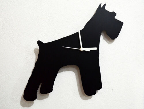 Giant Schnauzer Dog Silhouette - Wall Clock