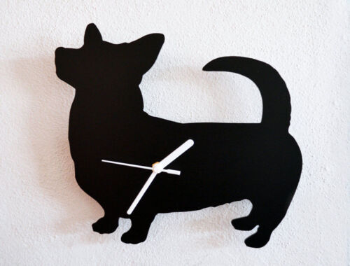 Corgi Dog Silhouette - Wall Clock