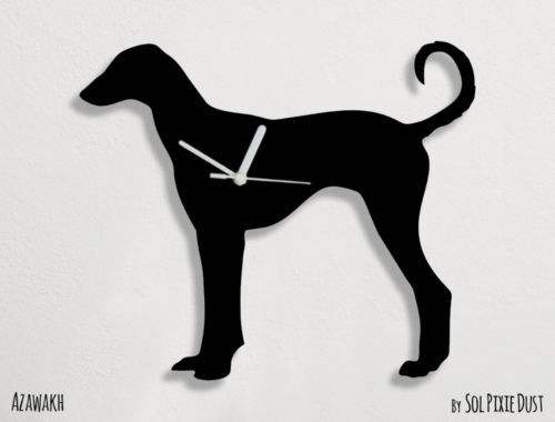 Azawakh Dog Silhouette - Wall Clock