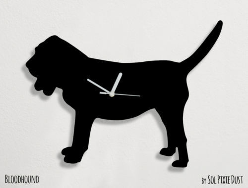 Bloodhound Dog Silhouette - Wall Clock