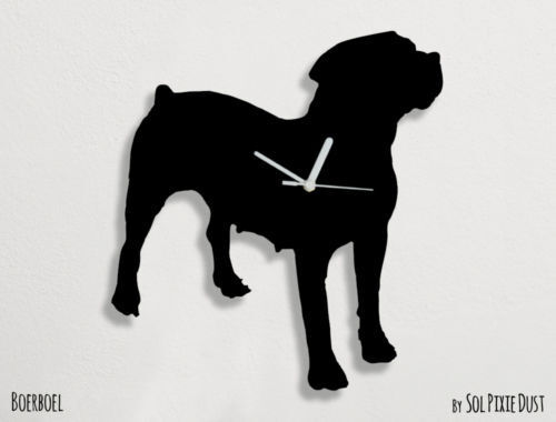 Boerboel Dog Silhouette - Wall Clock