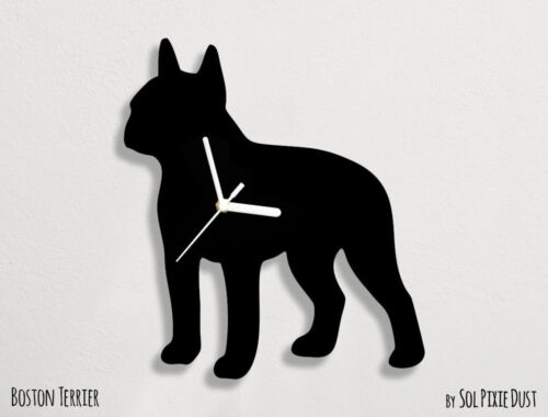 Boston Terrier Silhouette - Wall Clock