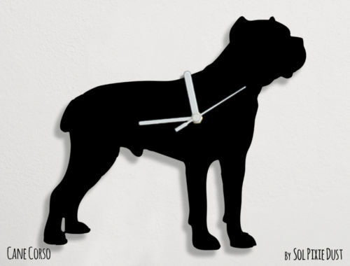 Cane Corso Dog Silhouette - Wall Clock