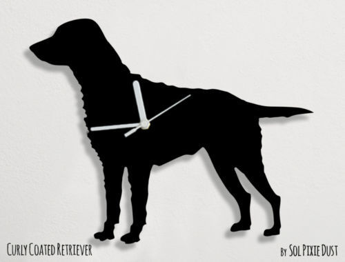 Curly Coated Retriever Silhouette - Wall Clock